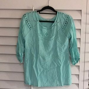 Francesca's 3/4 Length Sleeve Top